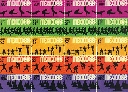 1968 Mexico City Olympics stamps