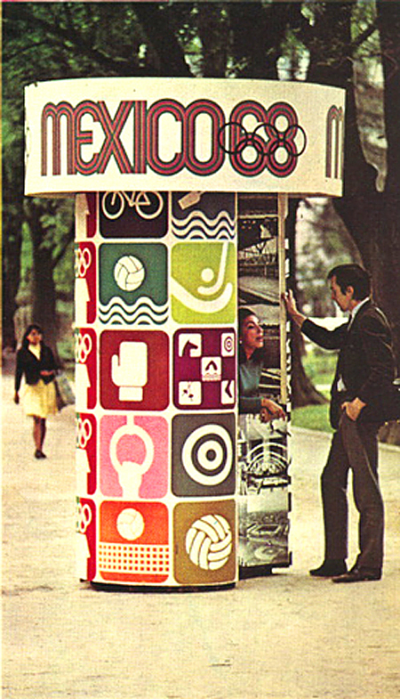 1968 Mexico City Olympics, information kiosk