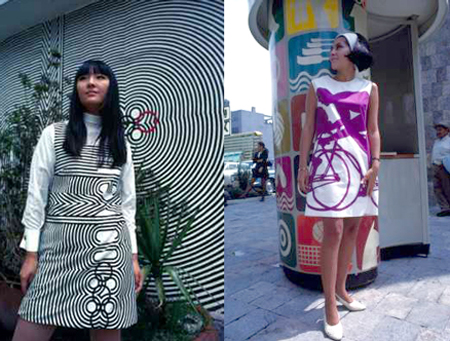 1968 Mexico City Olympics groovy dresses