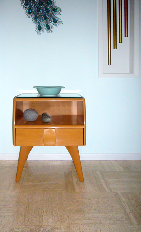 Heywood-Wakefield Kohinoor night stand, 1949