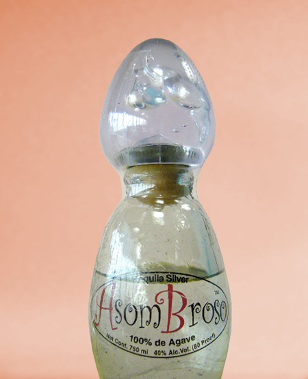 Handblown bottle design, Asom Broso