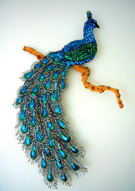 The amazing MJB peacock, LaPrele Adams, 1965