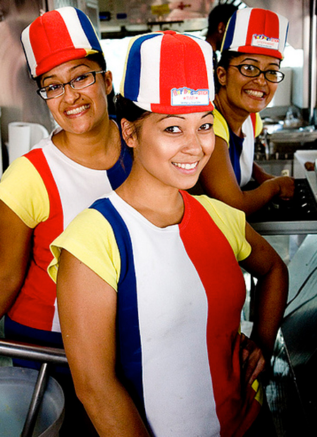 Hot Dog on a Stick uniforms