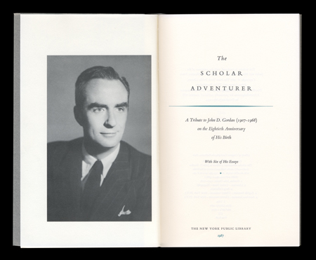 The Scholar Adventurer, NYPL, 1987, Sean Adams, good Bembo