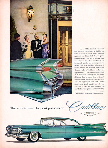 1959 Cadillac, too flashy