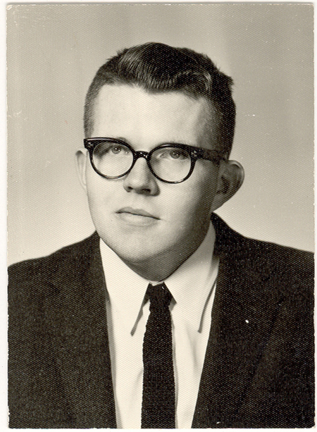 Sherman Adams, high school, before the 60s, 1959