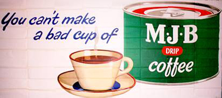 MJB cofee tin