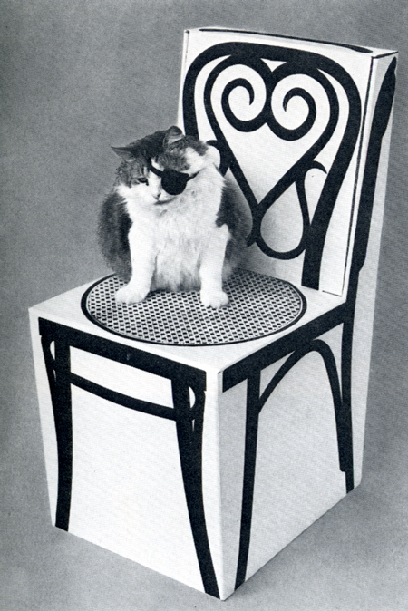 Marget Larsen, cardboard Thonet chair