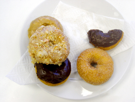 Today's donuts Noreen brought to make us fat