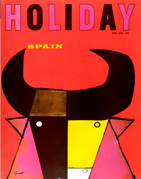 Holiday magazine cover, George Giusti, 1965