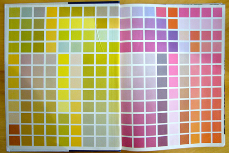 1953 interior color book endpaper