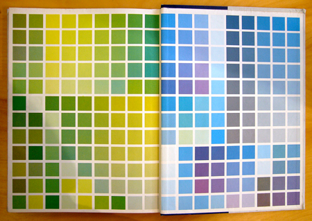 1953 interior color book endpapers