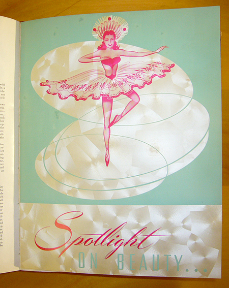 Ninth Graphic Arts Production Yearbook, 1950: very groovy paper