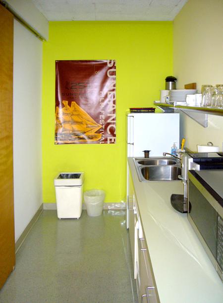 The tiny kitchen