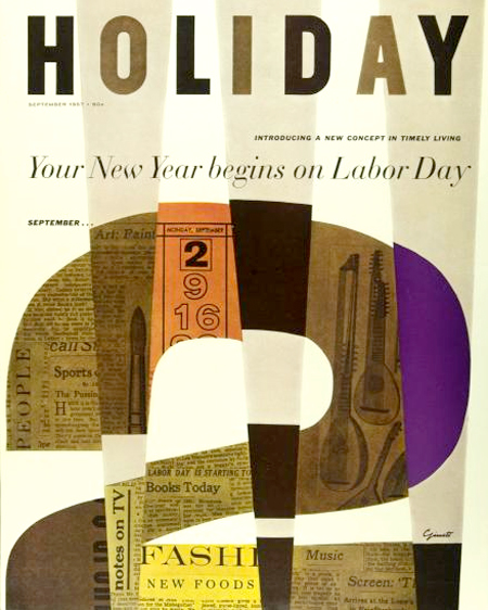 Holiday magazine cover, 1967