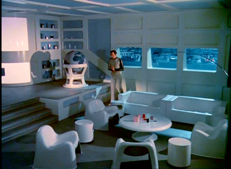 In space, furniture is hard