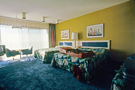 A room at the Contemporary when the colors were hyper-groovy