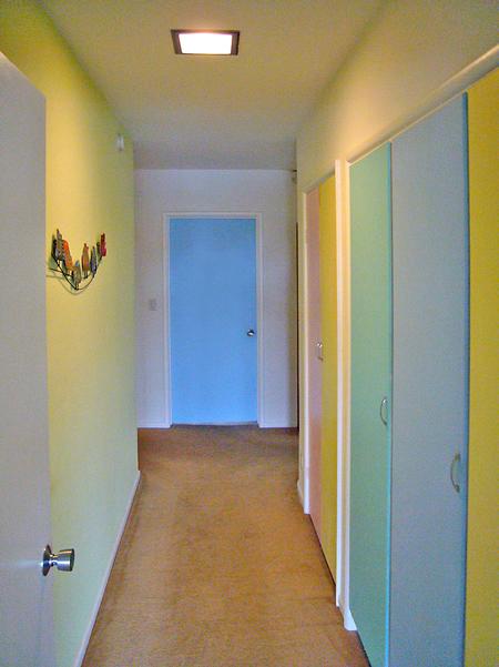 Brighter, happier hallway