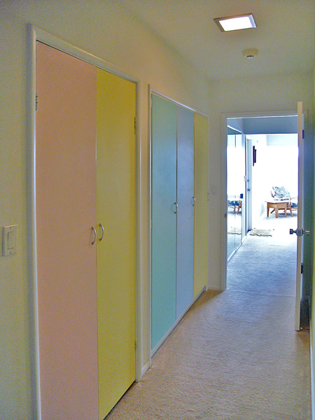 The many colored doors after