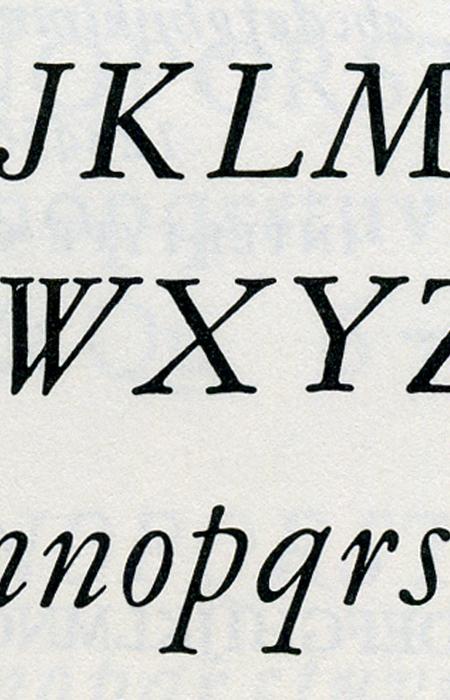 detail, Grafotechna Garamond Italic