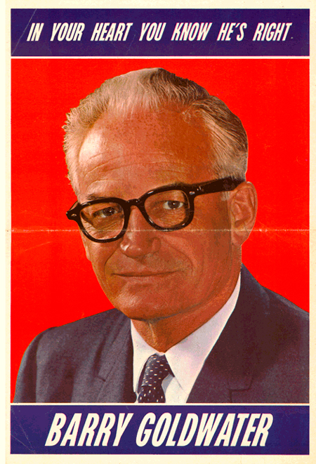 barry goldwater and lyndon johnson the issues of the election of 1964 The barry goldwater presidential campaign of 1964 began when united states senator barry goldwater of arizona elected to seek the republican party nomination for president of the united states to challenge incumbent democratic president lyndon b johnson.