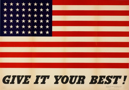 Charles Coiner, Give It Your Best, poster, 1942