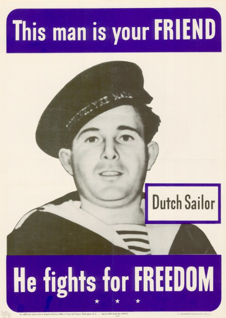 WWII Dutch Sailor poster, 1942