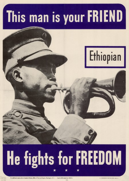 WWII Ethiopian poster, 1942