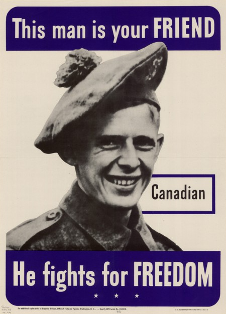 WWII Canadian poster, 1942