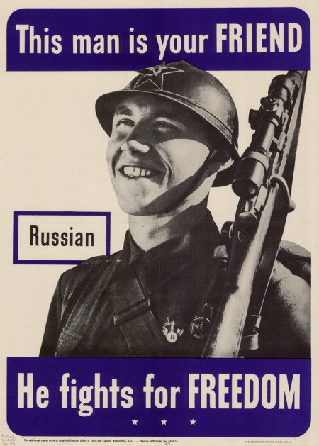 WWII Russian poster, 1942