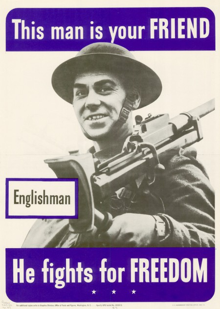 WWII English poster, 1942