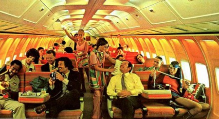1970s aircraft interior