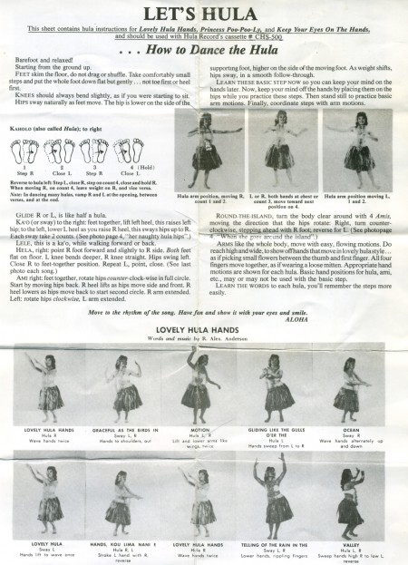 Let's Hula, Hula Records, Inc. 1956