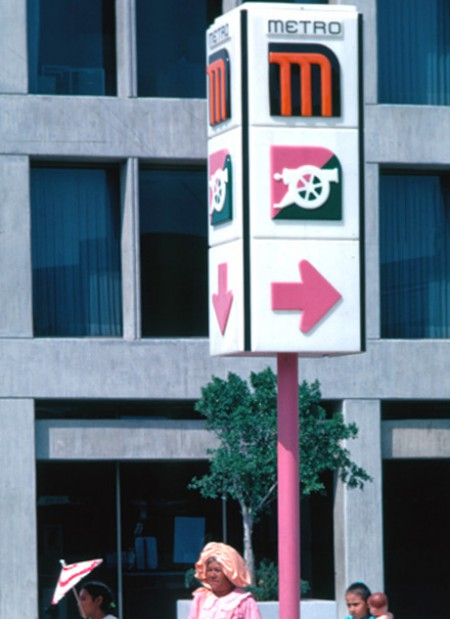 Lance Wyman, Mexico City Metro, 1969