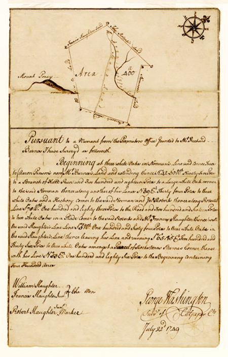 Survey by George Washington, 1749