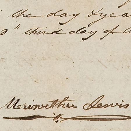 Meriwether Lewis signature 1809