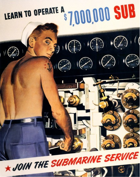 Navy Recruitment poster, WWII