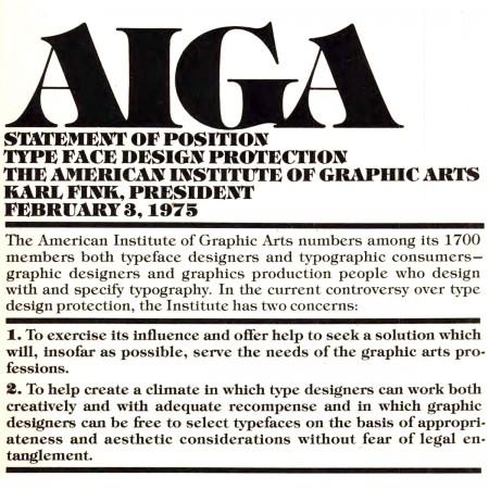 AIGA article, U&LC magazine 1975