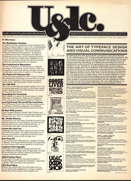 U&LC magazine 1975