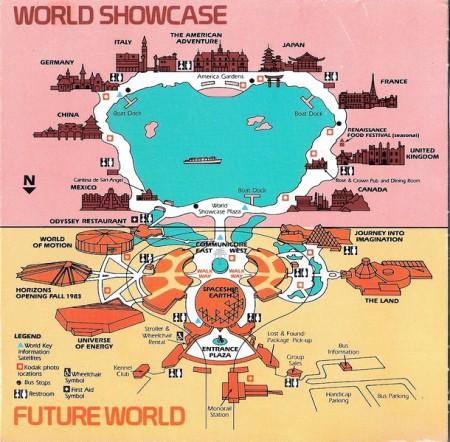 Epcot map, 1983