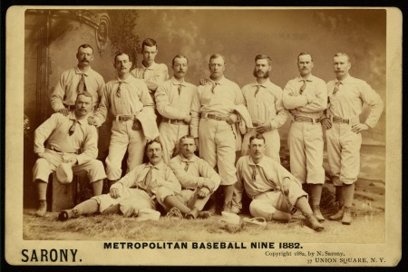 Metropolitan Baseball Nine Team in 1882