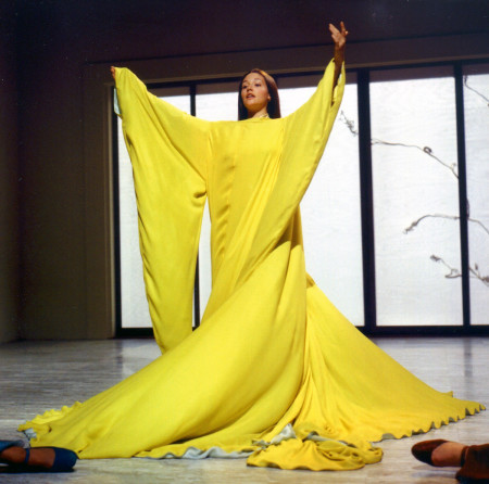 Olivia Hussey caught in a sheet
