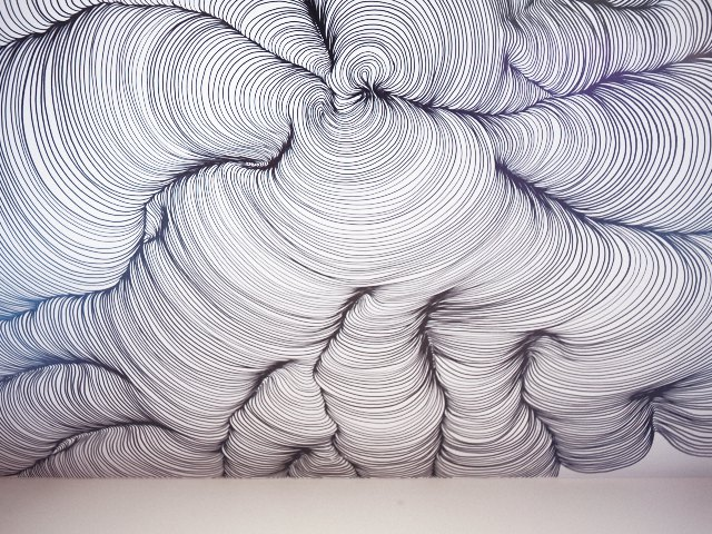 The Line Artist : New art space the hollows presents a giant sharpie drawn swirling
