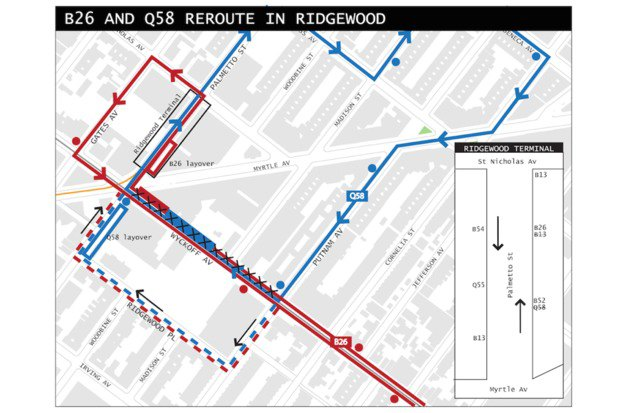 Q Bus Route Map on