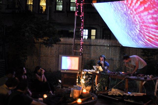 electronic music in a bushwick backyard bushwick daily