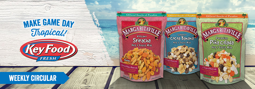 Margaritaville Foods Available at Key Food