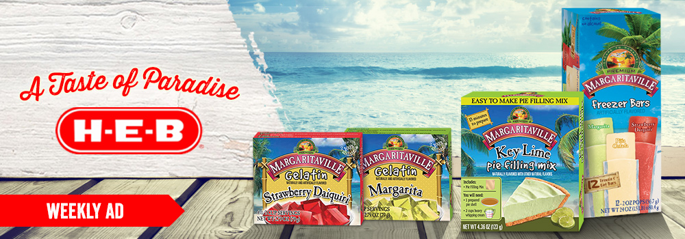 Margaritaville Foods available at HEB