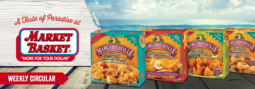 Margaritaville Foods Available at Market Basket
