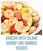 Gnocchi with Island Lime Shrimp & Summer Vegetables