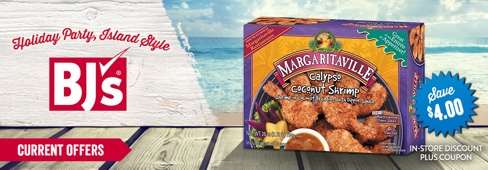 Margaritaville Foods available at BJ's